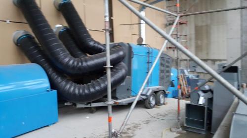 olejowe nagrzewnice powietrza z odprowadzeniem spalin